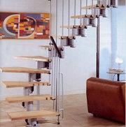 Межэтажная лестница на металлическом каркасе в г.Тольятти