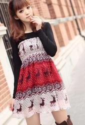 Платье из шифона с принтом